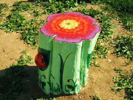 Σπίτι και κήπος διακόσμηση: 16 Πρωτότυπες Ιδέες για ανακύκλωση κορμών δέντρου για τον κήπο - Τέχνη και Διακόσμηση