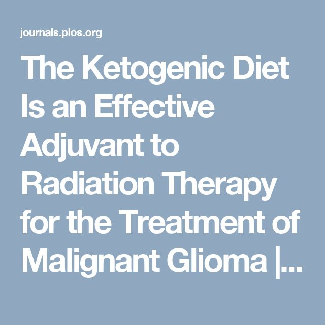The Ketogenic Diet Is an Effective Adjuvant to Radiation Therapy for the Treatment of Malignant Glioma | glioblastoma