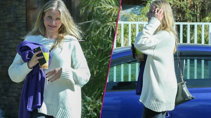 Pregnant At Last! Cameron Diaz Covers Up Possible Baby Bump!