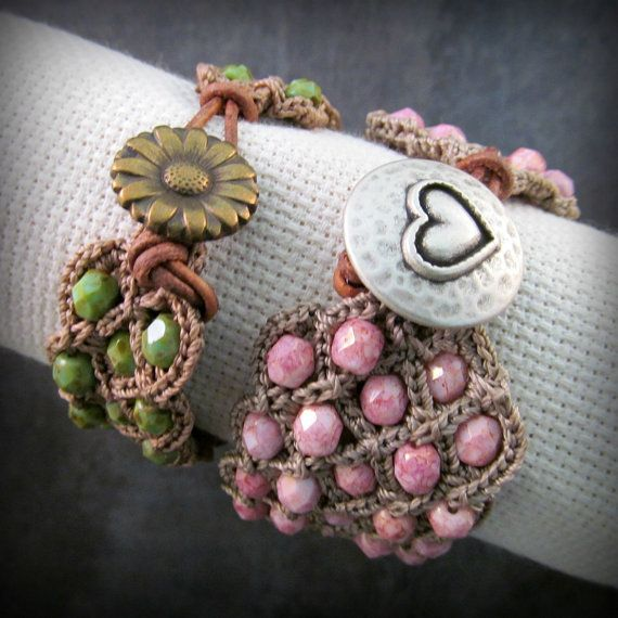 Modello crochet Crochet Cuff Bracelet di GlowCreekPatterns