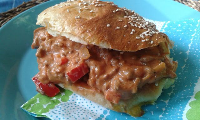 Paperivuoka: Sloppy Joe hampurilainen