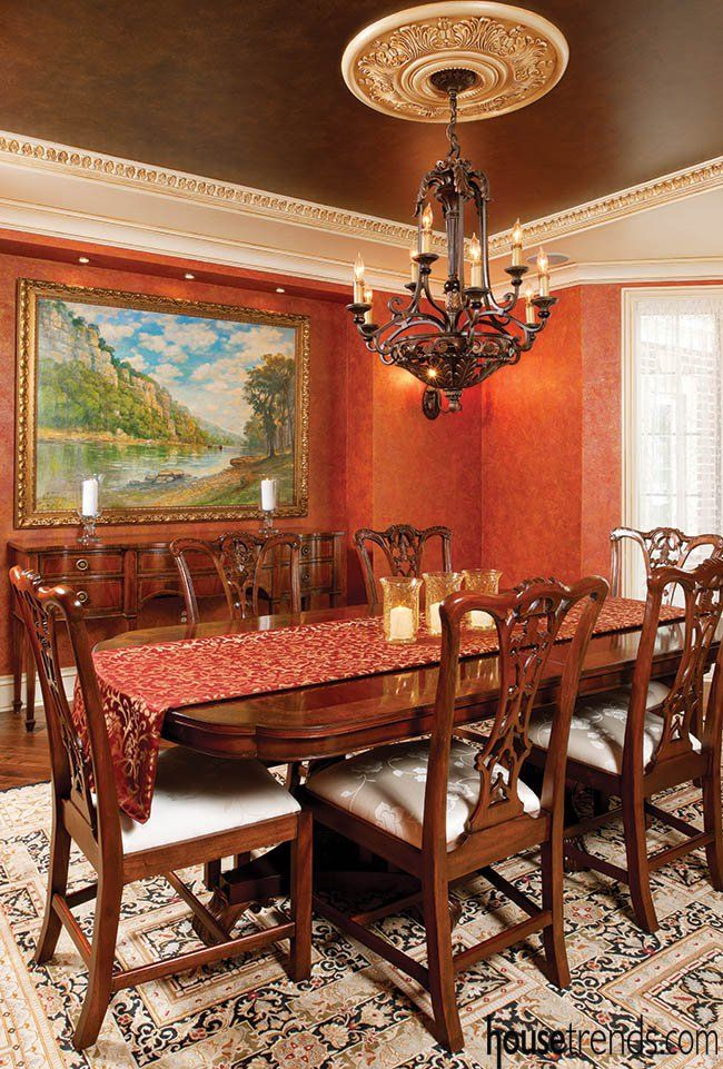 233 best dining rooms images on pinterest for Traditional dining room light fixtures