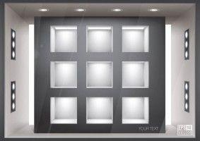шаблон галерея вектор 5 визуализации