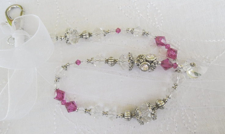 Fushsia, Clear and Silver Light Catchers. £15.20, via Etsy.
