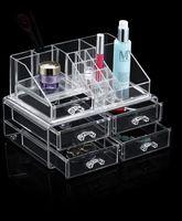 2016 Taizhou LSX PS fashional wholesale cosmetic organizer five draws transparent makeup box
