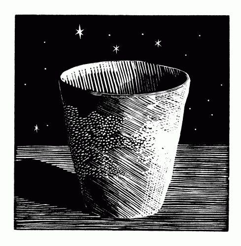 Flowerpot and Stars (1989) by John Morley