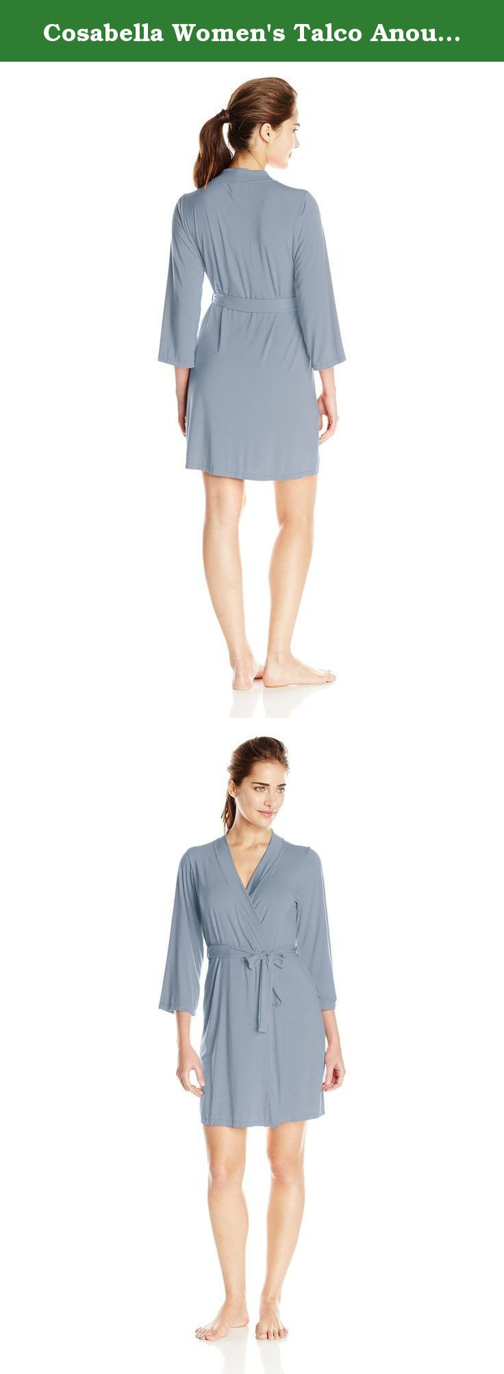 Cosabella Women's Talco Anouck Robe, Petra, Small. Designed in Cosabella's signature viscose, the versatile talco, has expanded into the yoga community thanks to its wear ability and breathability.