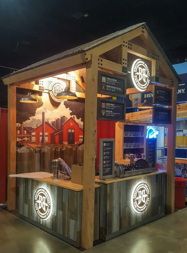 Breckenridge Brewery's booth at the 2016 Great Americal Beer Festival (GABF). Condit designed and fabricated this modern/rustic structure using reclaimed barn wood and sustainable beetle kill pine.