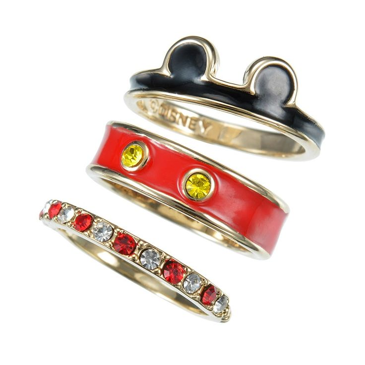 Mickey Mouse 3 Piece Ring Set