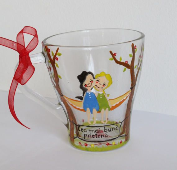 Personalized gift Gift mugs Custom glass tea Painted cup Glass cup Coffee mug Birthday gift Family gift Couples item Personalized mug
