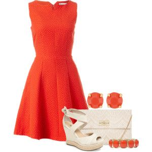Orange Fit and Flare