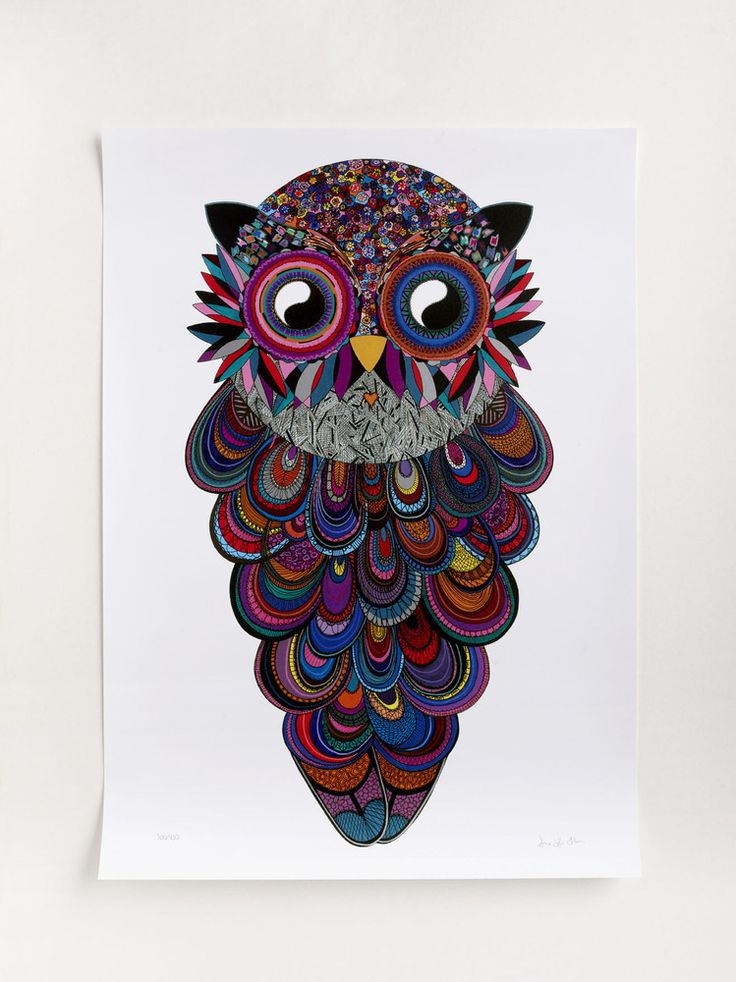 """Anne-Sofie Holm """"Tate Owl"""" Dimensions: 50x70 cmEdition: 430 signed"""