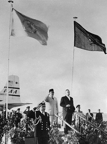 Sukarno & Pakistan's Iskander Mirza