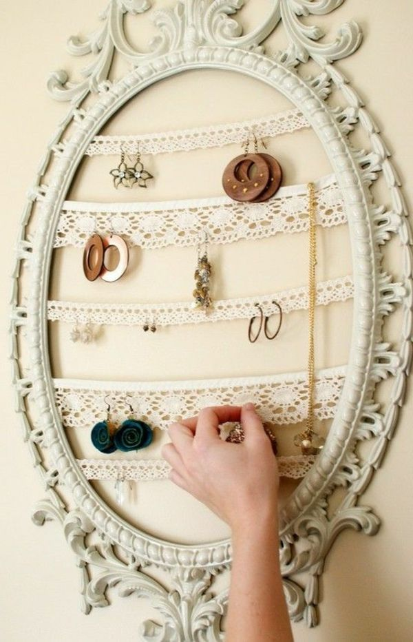 Great idea for hanging earrings!