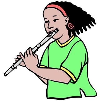Young girl playing flute. | Music Clip Art | Pinterest ...