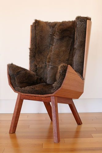 "Thomas Archer Chair, Stuart Williams, 2014. ""Making, for me is a way of documenting my relationship with Tasmania and its wild places – of capturing the wildness that I love, and the wonderment that it conjures in me."""