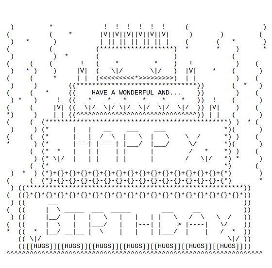 One Line Ascii Art Birthday : Happy birthday ascii text art discover best ideas about