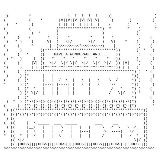 Happy Birthday ASCII Text Art                                                                                                                                                                                 Mais