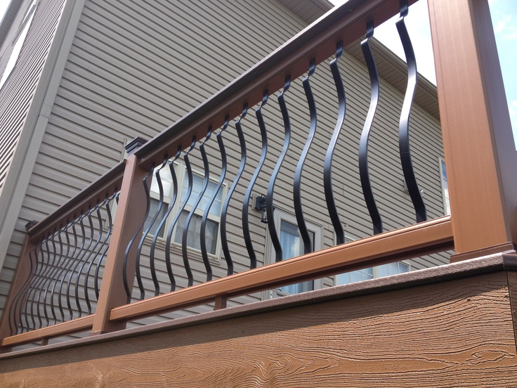 Architectural aluminum spindles with a trex transcends for Architectural railings
