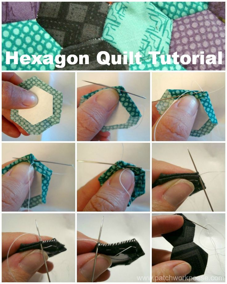Hexagon Quilt Tutorial / patchwork posse #tutorial #hexagonquilt