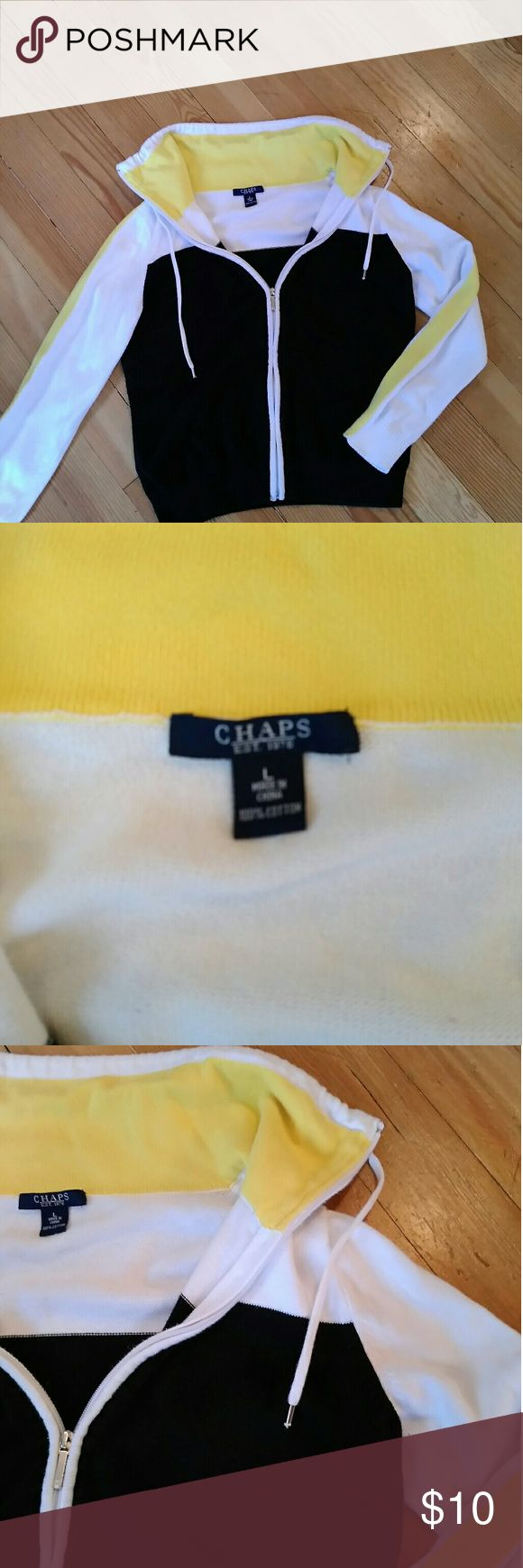 CHAPS BY RAlPH  LAUREN ZIP UP SWEATER NAUTICAL ZIP SWEATER Chaps Sweaters