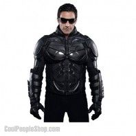 $738.76 Batman Motorcycle Suit Jacket | Cool People Shop http://www.coolpeopleshop.com/products/batman-2/batman-motorcycle-suit-jacket Batman Motorcycle Suit Jacket It's made for motorcycle riders, but can't you see somebody running around a big city fighting bad guys wearing this thing. YES!!! This leather jacket is for real. Ride your motorcycle in Batman movie style!  #batman #batmanraises #costume #replica #batmanjacket #motorcycle #leatherjacket #batmancostume #motorcyclesuit…