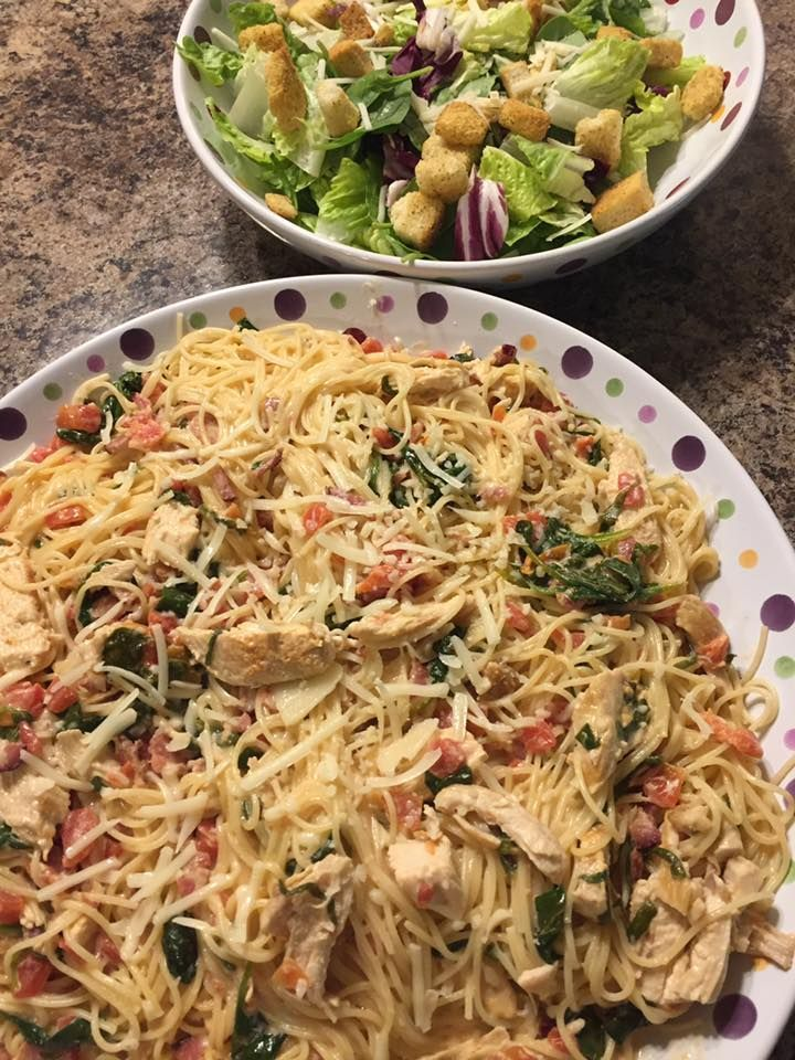 My friend, Karyn, posts the most amazing photos of stuff she makes on Facebook, both food and craft-wise, plus her kids are adorable, so I love seeing her posts come across my Facebook feed! She made this yummy looking Tuscan Chicken Pasta that made my mouth water earlier this week (plus I'm a sucker for angel hair pasta). Of course, all of her friends wanted the recipe, so she was happy to share that as well. Tucsan Chicken Pasta Recipe Instructions Follow these ten easy steps (ingredients…