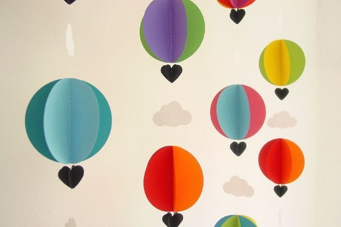 3D Hot Air Balloon Garland by younghearts