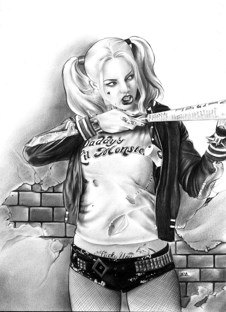 Harley Quinn by Léia Olliver  #harleyquinn #suicidesquade
