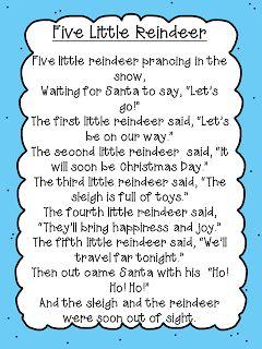 Reindeer Poem Freebie | Christmas kindergarten, Christmas poems, Preschool songs