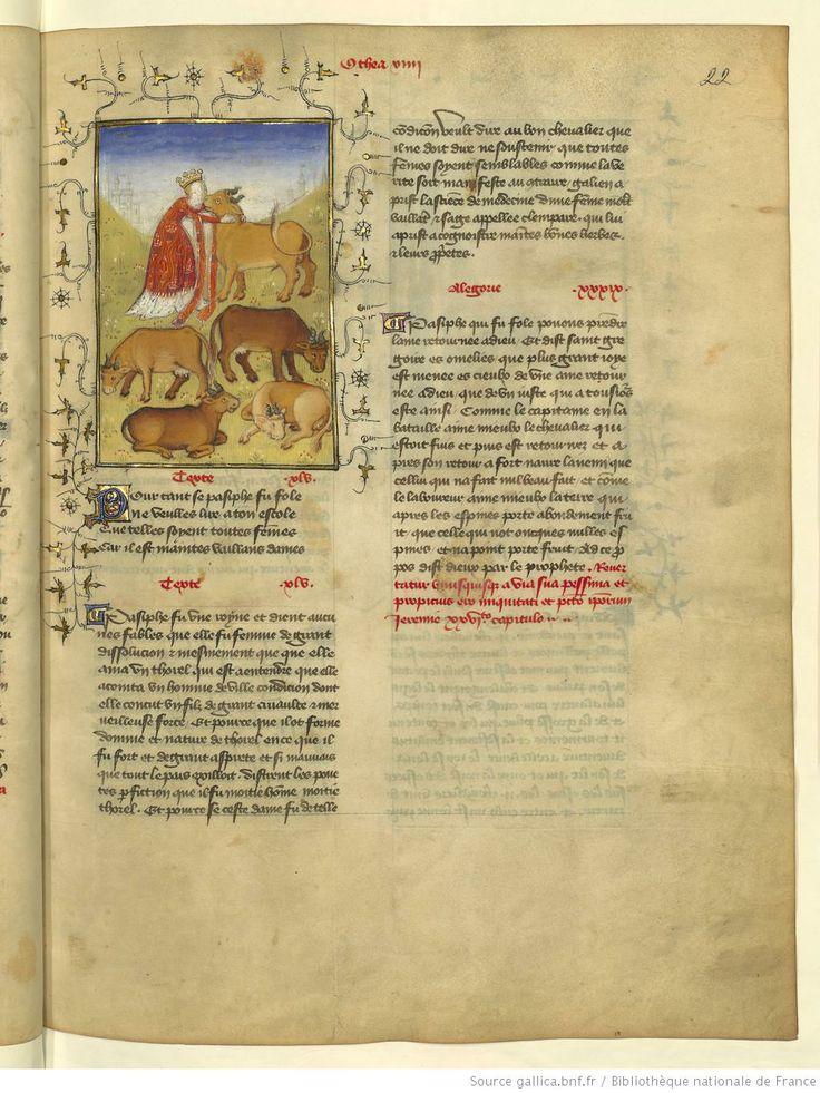 L'Epistre Othea à Hector, fol 22r