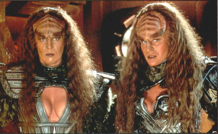 The Klingon Duras Sisters, Lursa (played by Barbara March) and B'Etor (Played by Gwynth Walsh) appeared in Star Trek: The Next Generation (Redemption, Part I), Star Trek: Deep Space 9 (Past Prologue) and the movie Star Trek Generations.