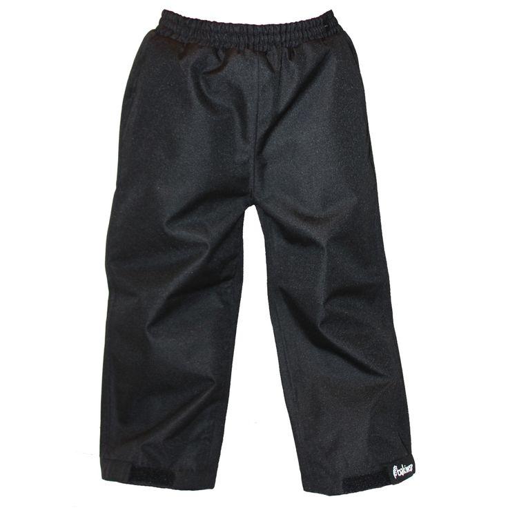Children's Trail II Rain Pants, Black | Oakiwear - Rain Gear, Kids rain suits, kids waders, kids rain gear, and kids rain coats