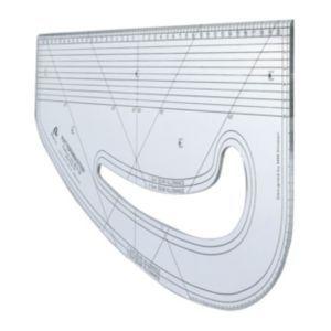 Patternmaster ruler from Morplan -- http://www.morplan.com/shop/en/morplan/garment-manufacturing/pattern-making/patternmasters