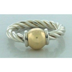 Cape Cod Twist Single Ball Ring ($100) - Cape Cod Rings and Anklets  - CAPE COD JEWELRY