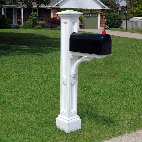 Charleston Plus White Mailbox Post Mayne Post Mailboxes Outdoor