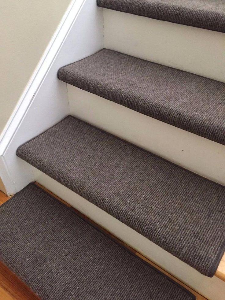 Best Bristol Dark Brown New Zealand Wool True Bullnose™ Padded Carpet Stair Tread Runner Replacement 640 x 480
