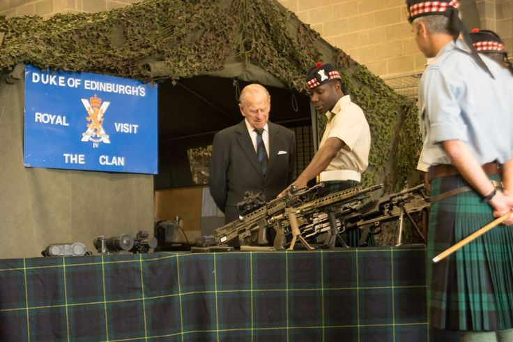 "The Royal Family on Twitter: ""📷 The Duke of Edinburgh, Royal Colonel of The Highlanders, visits @4_scots at their new home in Catterick Garrison"