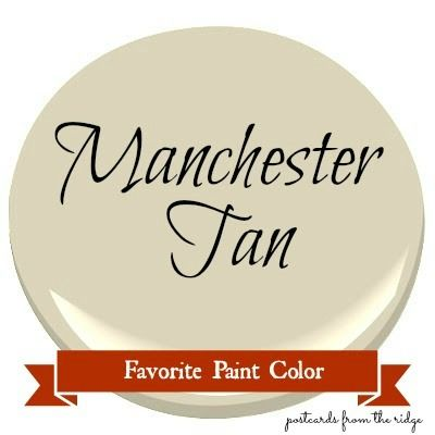 Benjamin Moore Manchester Tan - click the link for real life examples of this colour on the walls