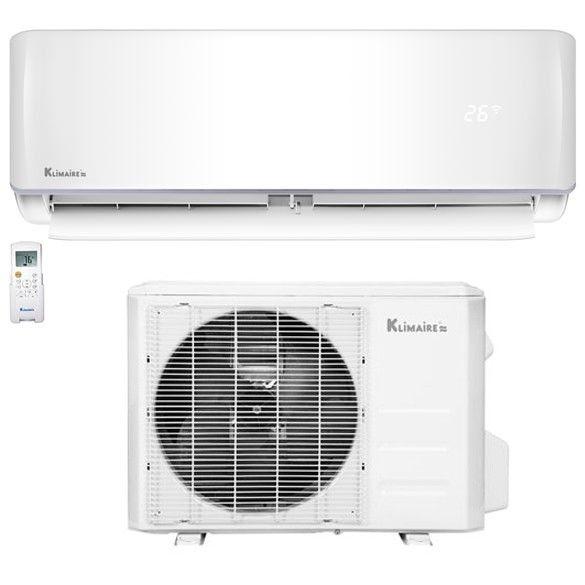 9 000 Btu Klimaire 19 Seer Ductless Mini Split Inverter Air Conditioner Heat Pump Wi Fi Ready System 115 Volt Heat Pump System Heat Pump Unit Ductless