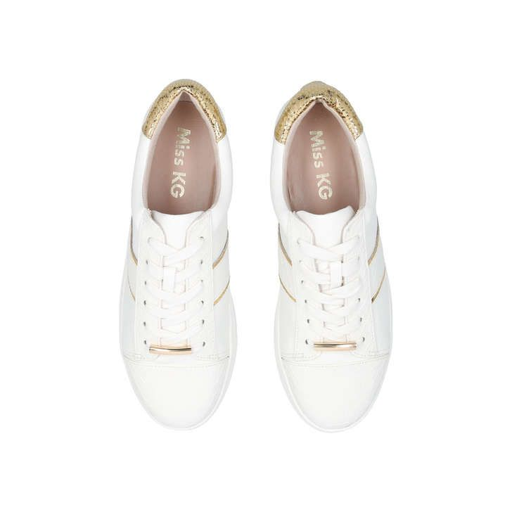 Lyra White Low Top Trainers By Miss KG