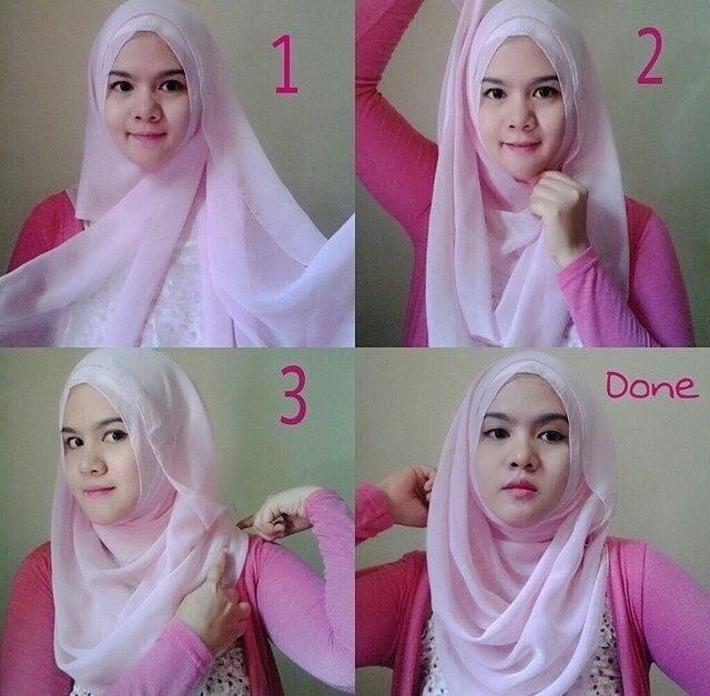 #hijab #simple #squareshawl #bawal #tutorial #stepbystep