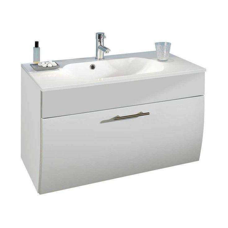 Die besten 25+ Waschbeckenunterschrank weiß hochglanz Ideen auf - badezimmer abdichten