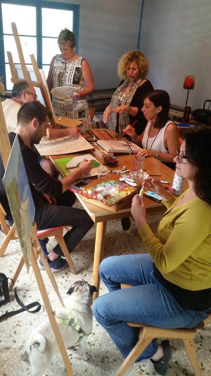 Painting workshops at Metaxart Studio, Poros ,Kefalonia