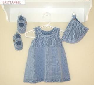 Baby Girl Knitting Dress - Knitting Stuff