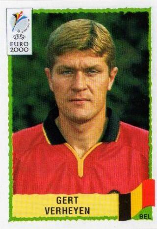 Gert Verheyen of Belgium. Euro 2000 card.
