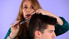Learn how to cut hair -- including tips on how to trim bangs and create volume -- from stylist Janet Waddell in these Howcast hair tutorials.