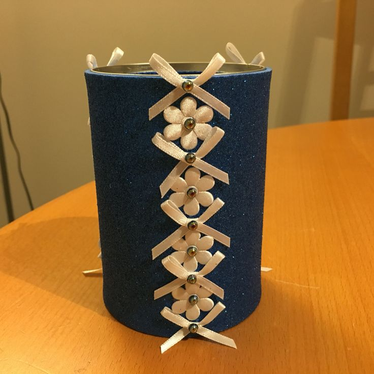 Up-cycled can made for my God-daughter Caitlin's Christmas (2015)