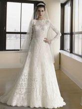 Manga larga musulmán hijab musulmán del Abaya del vestido de novia de la boda vestido de novia