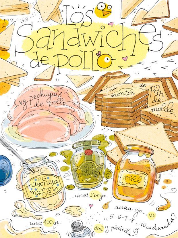 Infalibles.      Esta receta se la dedico especial especialísimamente a mi amigo Fernando. El fan número 1 indiscutible de Los Sandwiche...